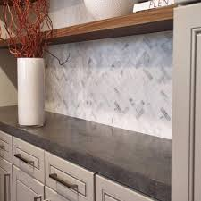 oriental white marble backsplash