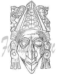 aztec masks drawings