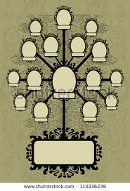 vector family tree design frames autumn stock vector 113336239