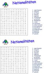 word search nationalities printable elementary school german resources countries and nationalities