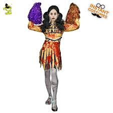 Zombie Cheerleader Halloween Costumes Cheap Scary Bloody Costumes Aliexpress Alibaba Group