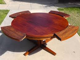 Expandable Kitchen Table - lummy round modern expandable dining table expandable top round