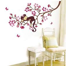 Nursery Monkey Wall Decals Monkey Lying On Tree Nursery Wall For