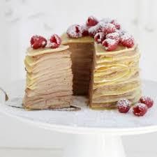 chocolate mascarpone filled crepe cake tastespotting