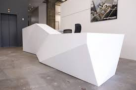 Desk Shapes Futuristic Reception Desk 4 Geometric Shapes Ceiling