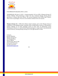 North Bay Mnr Fire by Press Release Wasaya Airplane Fire Sandy Lake First Nation