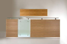 Reception Desk Wood Wooden Reception Desk Glass Opinio Kappler