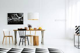 Wall Pictures For Dining Room Empty Wall In Dining Room Stock Photo By Bialasiewicz Photodune