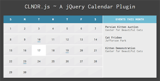 clndr jquery calendar plugin jquerymaz