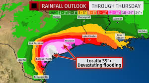 New Orleans Flood Map by Jonathan Erdman On Twitter