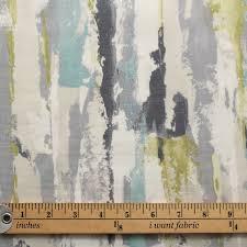 watercolour paris brush stroke panama print curtain blinds