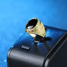 aliexpress buy mens rings black precious stones real mens rings color gold black ring for men retro texture engraving