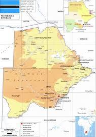 Botswana Map Botswana