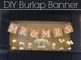 Mr And Mrs Sign For Wedding How To Make A Mr U0026 Mrs Burlap Banner Rustic Wedding Chic