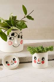 cute face planters tuesday bassen for uo pots u0026 planters galore