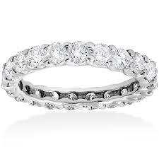 white gold eternity ring 3ct trellis diamond eternity ring 14k white gold jewelry