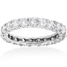 diamond wedding band for 3ct trellis diamond eternity wedding ring 14k white