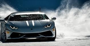 Lamborghini Huracan Drift - winter accademia lamborghini squadra corse