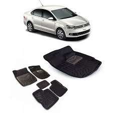 volkswagen vento black buy car 3d mat black color for volkswagen vento