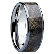 titanium mens wedding bands 8mm tungsten carbide with buckeye wood inlay b115m at mwb