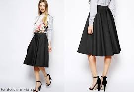 style guide how to wear the mid length skirt this spring fab
