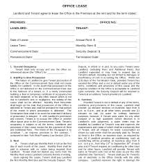 10 lease agreement templates u2013 free sample example format