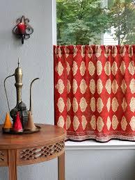 Saffron Curtains Curtain Rods Spice Route Orange Kitchen Curtains Cafe