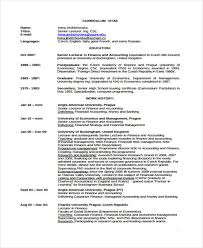 Financial Resume Examples by 25 Finance Resumes In Pdf Free U0026 Premium Templates