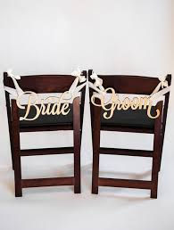 and groom chair signs wedding chair signs and groom fairytale chair decorations