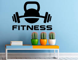 fitness wall decal gym wall stickers sports interior bedroom zoom