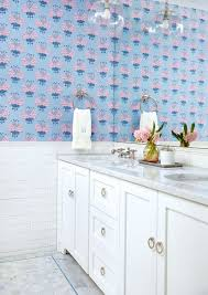 Cornflower Blue Bathroom by A Popping Palette Offers A Fresh Look To A Traditional Home