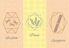 insecte de cuisine insectes italiens de cuisine de pâtes éaires figées illustration
