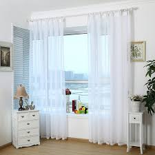 Cheap Kitchen Curtains Modern Home White Tulle Curtains Translucent Window Curtain Living