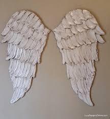 angel wings textured wood wall art carved wood look angel wing
