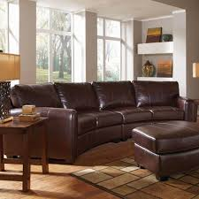 a plus home furnishings cornell bonded leather curved sofa