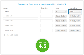 health class online high school high school gpa calculator step 3 select your course type