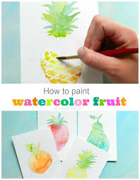 how to paint watercolor fruit textured pear grow creative blog