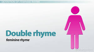 Words That Rhyme With Table Feminine Rhyme Definition U0026 Examples U0026 Lesson Transcript