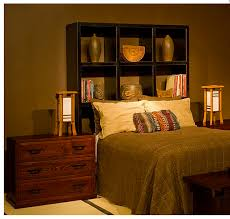 a batch of unique alternative headboards 1 the black display shelf helps create a cozy romantic yet strong