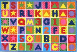 Abc Area Rug 4 3 X 6 6 Abc Area Rug Educational Alphabet Numbers