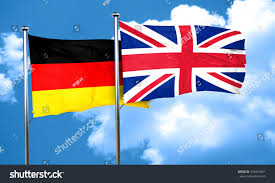german flag great britain flag 3d stock illustration 435067861
