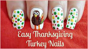 easy thanksgiving turkey nails