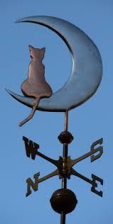 cat on the moon weathervane coast weathervanes
