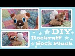 make your own plush diy rockruff sock plush how to make your own adorable
