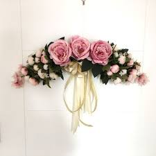 silk flowers artificial silk flowers tea peony wreaths mirror flowers door