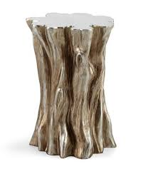 silver stump side table