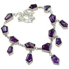 amethyst necklace silver images Jennifer sterling silver amethyst necklace necklace with jpg