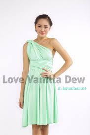 aquamarine bridesmaid dresses bridesmaid dress infinity dress aquamarine hem knee