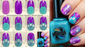 tutorial tuesday cute alien nail art adventures in acetone
