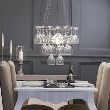 Dining Room Lights Uk Litecraft Wine Glass Chandelier 3 Tier Silver Contemporary